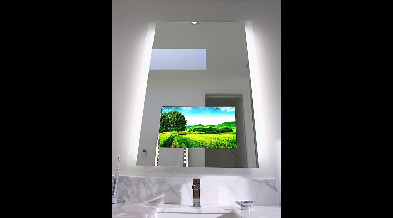 Laser Etched Mirror Tv Lumidesign