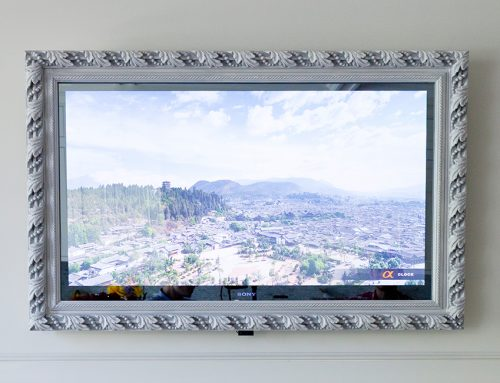 Framed Vanishing Mirror TV