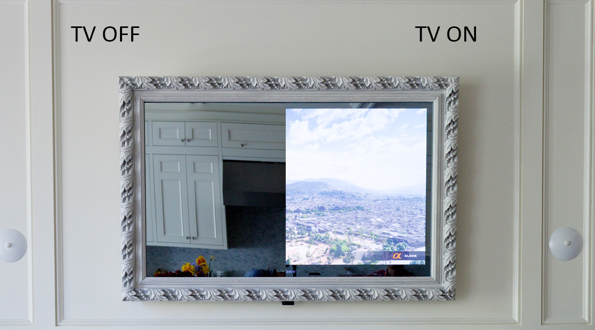 Framed Vanishing Mirror TV – LumiDesign